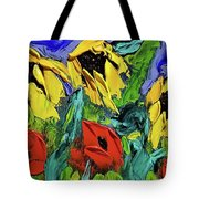 Sunflowers And Poppies - Little Treasures Series Tote Bag