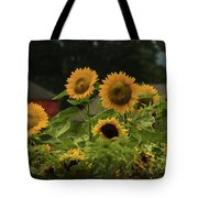 Sunflowers And Red Barn 3 Tote Bag