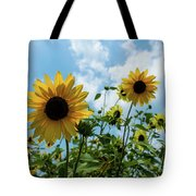 Sunflowers And The Bee Tote Bag