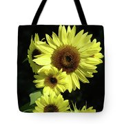 Sunflowers Art Yellow Sun Flowers Giclee Prints Baslee Troutman  Tote Bag