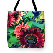 Sunflowers At A Fair Tote Bag