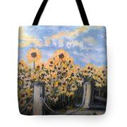 Sunflowers At Rest Stop Near Great Sand Dunes Tote Bag
