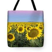 Sunflowers At Sunrise Tote Bag