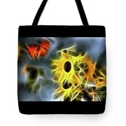 Sunflowers-butterfly-5233-fractal Tote Bag