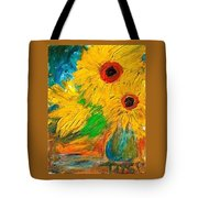 Sunflowers By The Lake Tote Bag