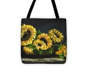 Sunflowers From The Garden Tote Bag