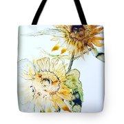 Sunflowers II Tote Bag by Monique Faella