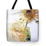 Sunflowers II Uncropped Tote Bag by Monique Faella