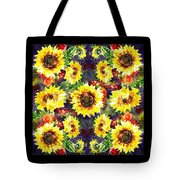 Sunflowers Impressionism Pattern Tote Bag