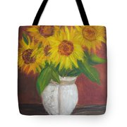 Sunflowers In A Clay Pot Tote Bag