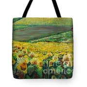 Sunflowers In Provence Tote Bag by Nadine Rippelmeyer