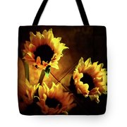 Sunflowers In Shadow Tote Bag