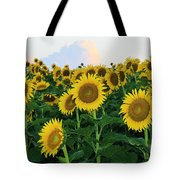 Sunflowers In The Clouds Tote Bag