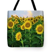 Sunflowers In The Sky Tote Bag