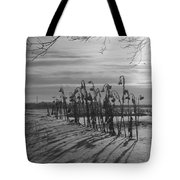 Sunflowers In The Winter Sun Tote Bag