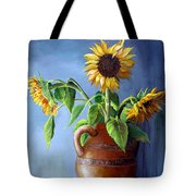 Sunflowers In Vase Tote Bag
