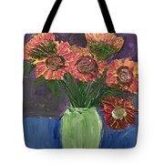 Sunflowers In Vase Tote Bag