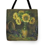Sunflowers Tote Bag by Katalin Luczay