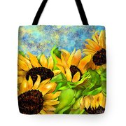 Sunflowers On Holiday Tote Bag