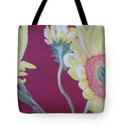 Sunflowers On The Run Tote Bag