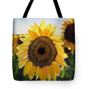 Sunflowers Squared Tote Bag