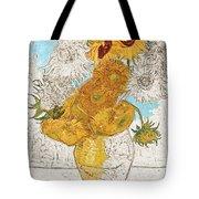 Sunflowers Van Gogh Digital Art Tote Bag