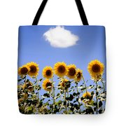 Sunflowers With A Cloud Tote Bag