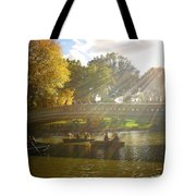 Sunlight And Boats - Central Park -  New York City Tote Bag
