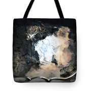 Sunlight And Clouds Reflected In The Birdbath Tote Bag