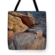 Sunlight Fades Out On Valley Of Fire Tote Bag