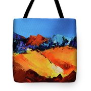Sunlight In The Valley Tote Bag
