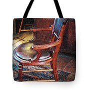 Sunlight On Leather Chair Tote Bag