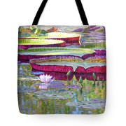 Sunlight On Lily Pads Tote Bag