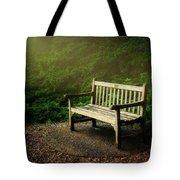 Sunlight On Park Bench Tote Bag