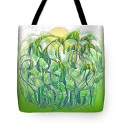 Sunlight On Wet Grass Tote Bag