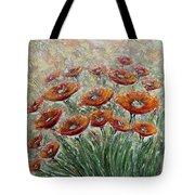Sunlight Poppies Tote Bag