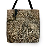Sunlight Reflection On Underwater Stones And Rocks, Reshi River, Sikkim , India Tote Bag