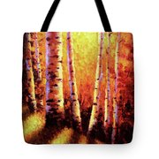 Sunlight Through The Aspens Tote Bag