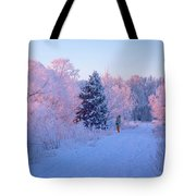 Sunlight Through The Frost Tote Bag