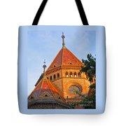 Sunlit Church Aglow Tote Bag