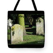 Sunlit Churchyard Tote Bag