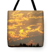 Sunlit Clouds Sunset Art Prints Gifts Orange Yellow Sunsets Baslee Troutman Tote Bag