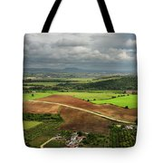 Sunlit Farms And Fields Below Arcos De La Frontera Andalusia Spa Tote Bag