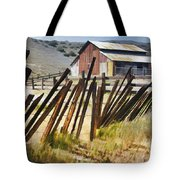 Sunlit Fence Tote Bag
