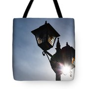 Sunlit Jewels - Stained Glass Lamps And Sunburst Right Tote Bag