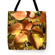 Sunlit Lilac Leaves Tote Bag