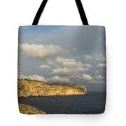 Sunlit Limestone Cliffs In Malta Tote Bag