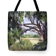 Sunlit Marsh Tote Bag