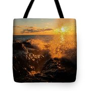 Sunlit Spray Tote Bag by James Peterson
