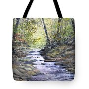 Sunlit Stream Tote Bag